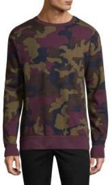 WeSC - Miles Camouflage Cotton Sweatshirt red port at Saks Fifth Avenue