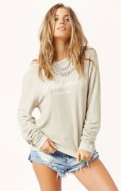 Weekend I Love You Jumper by Wildfox at Planet Blue