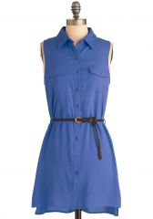 Weekend Vacation Dress in Blue at ModCloth