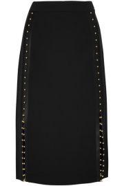 Welkes embellished silk satin-trimmed crepe skirt altuzarra at Net A Porter