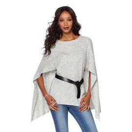 Wendy Williams Sweater Knit Capelet Top by Wendy Williams HSN Collection at HSN