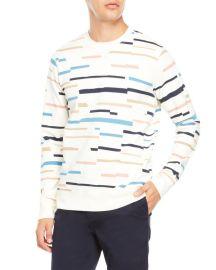 Wesc Miles Broken Stripe Sweatshirt  at C21