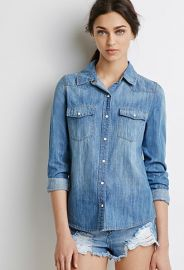 Western Chambray Shirt  Forever 21 - 2000120235 at Forever 21