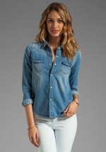 Western denim shirt by Joes Jeans at Revolve