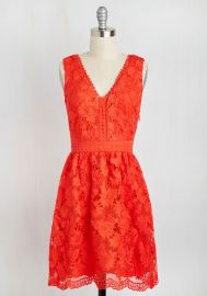 When I Groove You Groove Dress in Vermillion at ModCloth