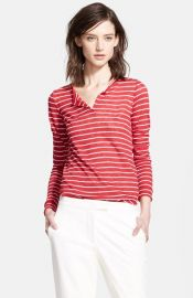 Whetherly and39Harlowand39 Stripe Long Sleeve Henley at Nordstrom