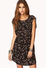 Whimsy Floral Shift Dress with Sash at Forever 21