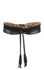 Whipstitch Faux-Leather Waist Belt at Bcbg