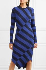 Whistler asymmetric striped ribbed-knit dress by Altuzarra at Net A Porter