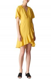 Whistles Abigail Frill Wrap Dress at Nordstrom