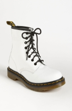 White Docs worn by Hayley of Paramore at Nordstrom