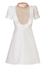White Embroidered dress by Valentino at Stylebop