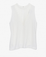 White Harlow top by ALC at Intermix
