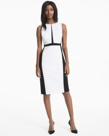 White House Black Market Colorblock Sheath Dress at White House Black Market