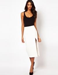White Pencil Skirt at Asos