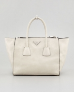 White Prada Tote at Neiman Marcus