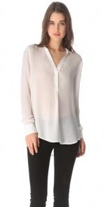 White Vneck blouse at Shopbop at Shopbop