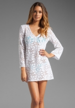 White crochet cover up dress at Revolve