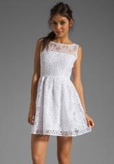 White eyelet lace dress by BB Dakota at Revolve