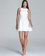 White flared dress at Bloomingdales