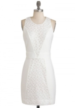 White lace dress from Modcloth at Modcloth