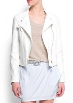 White moto jacket from Mango at Mango