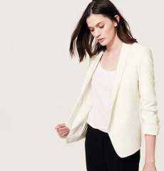 White open tuxedo jacket at Loft