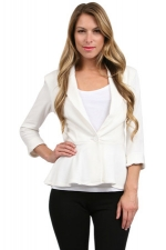 White peplum blazer at Couture Candy