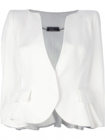 White peplum blazer by Alexander McQueen at Farfetch