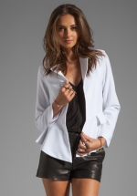 White peplum jacket by Naven at Revolve
