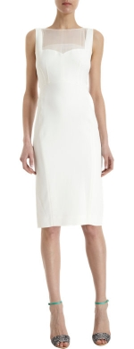 White sheer inset dress by Narciso Rodriguez at Barneys