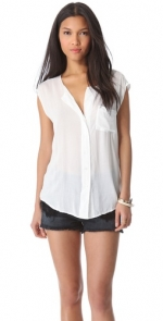 White sleeveless blouse by James Perse at Shopbop