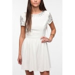 White studded dress at Urban Outfitters at Urban Outfitters