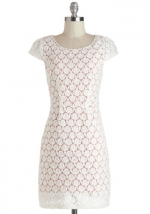 White textured dress like Emilys at Modcloth