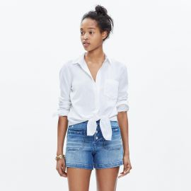 White tie front shirt at Madewell