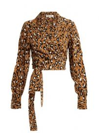 Whitman leopard-print silk blouse at Matches