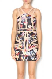 Whitney Eve Tropic Inspired Mini Dress at Shoptiques