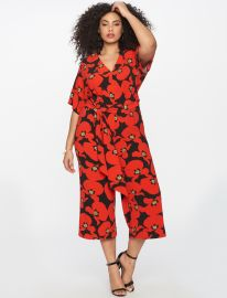 Wide Leg Printed Jumpsuit by Eloquii at Eloquii