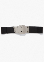 Wide Metal Buckle Belt at Bebe