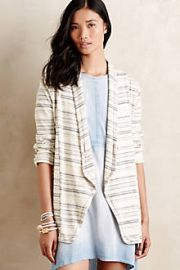 Wide-Ruled Knit Blazer at Anthropologie
