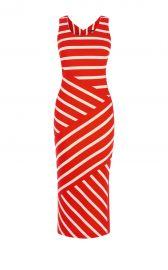 Wide Stripe Jersey Midi Dress at Karen Millen