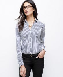Wide Stripe Shirt at Ann Taylor