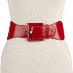 Wide red belt at Kohls