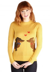 Wiener Takes It All Sweater at ModCloth