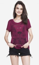 Wild Love Graphic Tee at Express