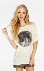 Wildfox Blue Moon T-Shirt in Cream at Wildfox