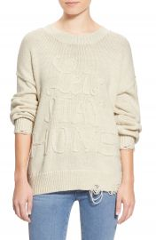 Wildfox Lets Stay Home Distressed Sweater at Nordstrom