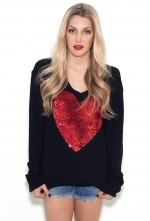 Wildfox heart sweater on The Mindy Project at Boutique To You