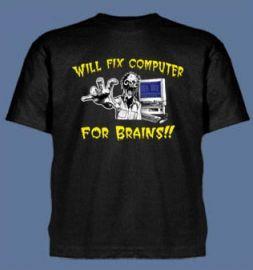 Will Fix Computer For Brains shirt at Jinx
