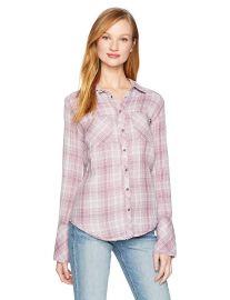 William Rast Women s Mercer Slim Fit Shirt at Amazon